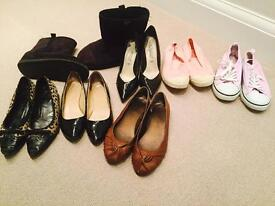 7 pairs of women's shoes size 4