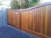 Driveway gates (bespoke hardwood)