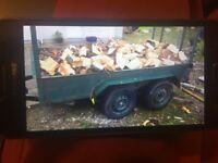 8 by 4 foot trailer full fire wood for sale
