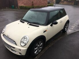 Mini Cooper with Panoramic sunroof. Reduced price for quick sale.