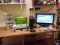 xbox 360 (jasper motherboard) hdmi console with 35 games, controller, 120gb hard drive, kinect etc.