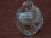 CRYSTAL CUT-GLASS JAR - (BOUGHT FROM HARRODS) - NEW