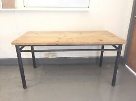 Industrial Wood and Metal desk table office scaffold reclaimed x3 @ £180 each