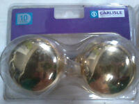 5 packs of Carlisle brass mortice knobs. Unopened