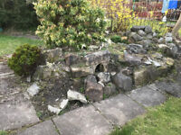Rockery Rocks / Stones - free collection (requires manual removal from current rockery)