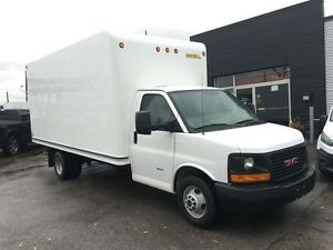 2015 GMC Savana 3500 DIESEL 16 FT with ramp. Fin or lease from 4