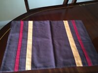 Brand new table set - six cotton placemats and table runner.