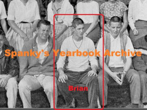 1950s High School Yearbook with BRIAN WILSON ~ Beach Boys ~ Pet Sounds ~ ++++
