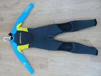 Gul Junior RESPONSE 5/3mm Blind Stitch Steamer Wetsuit 2014 - Graphite/Cyan XS