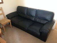 3 seater leather sofa bed