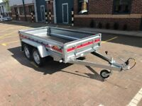 Brand new Tema Pro double axes 2,63cm car box trailer 750kg