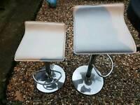 creamy white high bar stool