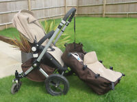 """""""Bugaboo Cameleon 1"""" pram for baby and toddler, colour sand & brown"""