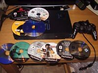 PLAYSTATION 2 WITH GAMES AND MEM CARD