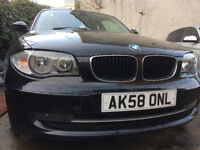 BMW 120d BLACK e87 2008 177 BHP HPI CLEAR