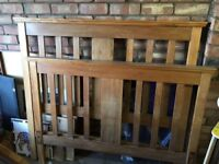 Vintage satinwood double bed ends
