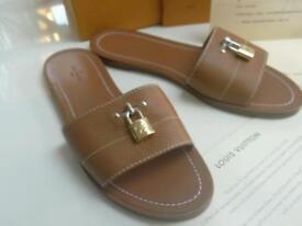 Authentic Louis Vuitton flat sandals