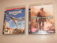 PS3 Games Warhawk & Modern Warfare 2, Multiplayer FPS Shooter, Playstation3 COD