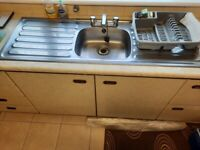 1980s kitchen units, worktop and sink
