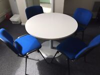 Office Meeting table and 4 chairs, Excellent Condition.