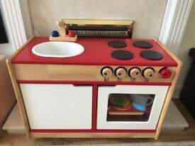 Wooden play kitchen brand new
