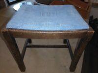 Oak piano stool