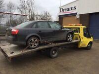 £130 min scrap cars wanted bikes 4x4s