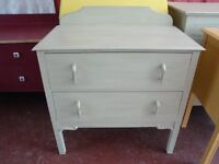 Vintage Chest Of Drawers in Annie Sloan Versailles (soft green)