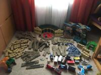 HUGE Thomas track master set, Tidmouth sheds, Cranky, remote control Thomas, and other vehicles