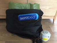 Airbed - Aerobed KingSize complete with rechargeable pump + 2 Vango Aurora Grande Sleeping Bags