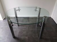 Extentable Glass And Chrome Round Dinning Table FISICA