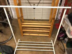 IKEA Rigga adjustable clothes rail