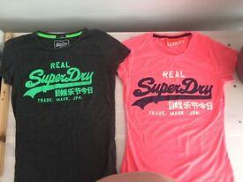 Ladies superdry t shirts
