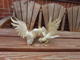 Silver Plated Fighting Hens