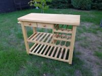 Excellent Condition - Wooden Butlers Trolley & Wine Rack