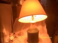 A STATEMENT PIECE In the FORM of a HUGE POTTERY BASED TABLE LAMP & SHADE +++++++++++