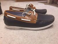 NEW MEN'S FAUX LEATHER LACE UP DECK BOAT CASUAL SHOES SIZE 7