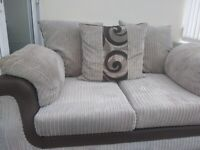 2 seater sofa beige/brown in excellent condition