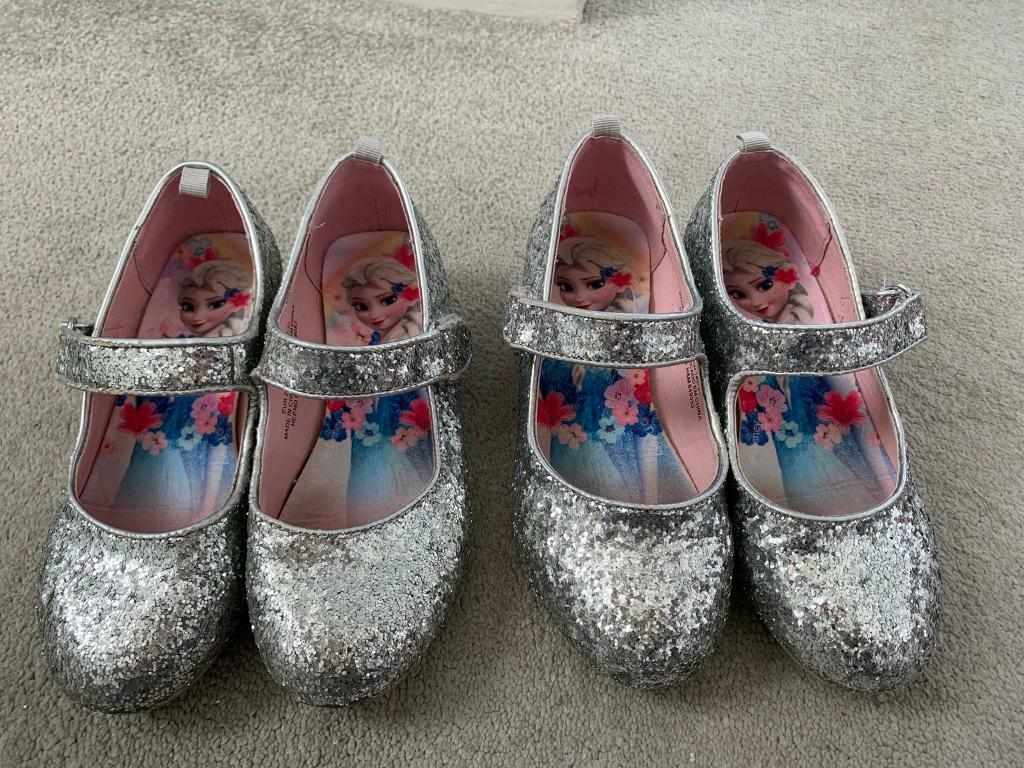 de5f86df7754 Girls silver sparkly shoes - size 10.5 and 11