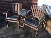 Double Garden Chair & Table
