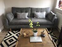 Grey DFS sofa