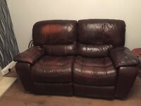 Harvey's Reclining leather Sofa & Chair