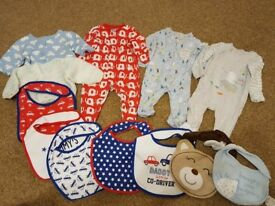 Boys bundle of clothes 0-1 month in excellent condition