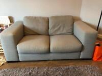 Blue grey 2 seater sofa