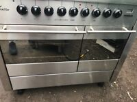 Range gas cooker 100cm free delivery