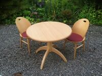 John Lewis kitchen table and two chairs