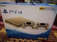 PS4 slim gold limited edition bundle