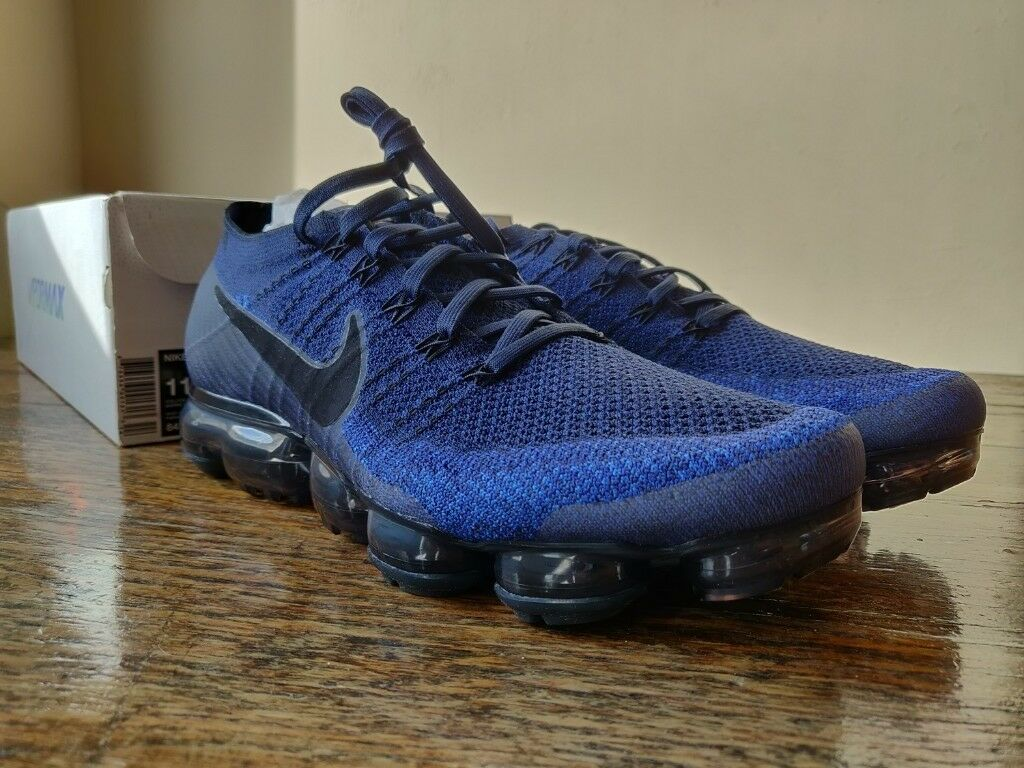 Nike Air VaporMax Flyknit Midnight Navy - UK 10 - Brand New  07cdd6678