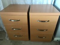 2 x 3 drawer cabinets