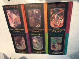 6 hard sided Leminy Snicket books, no 2 - 7 , great condition